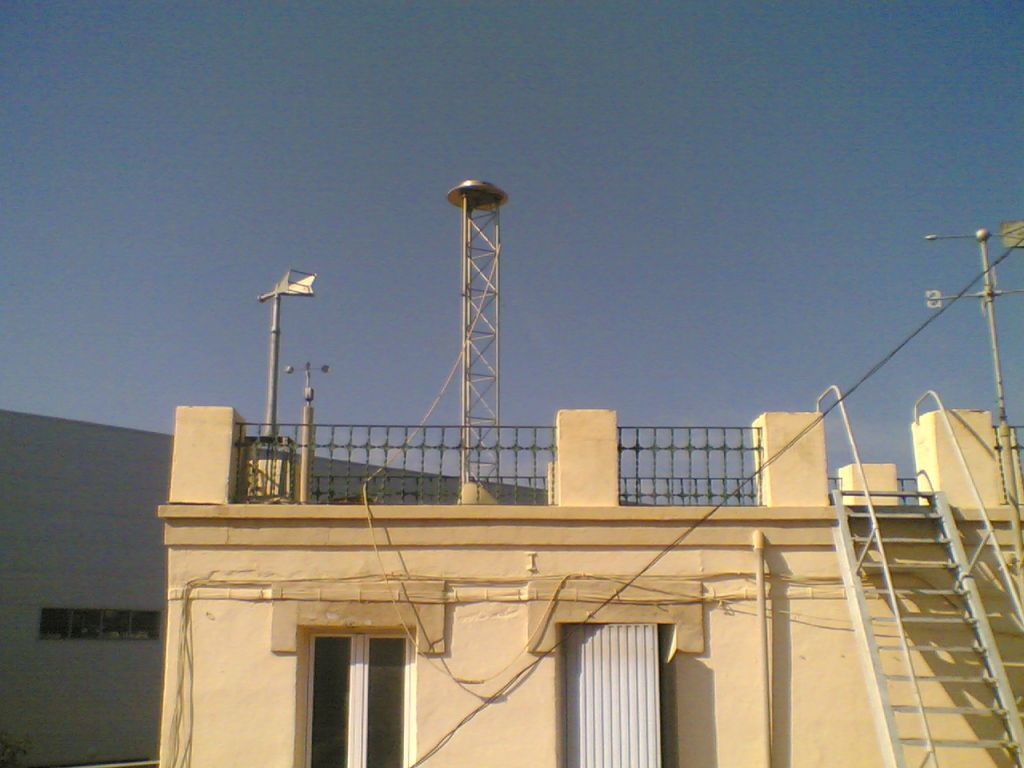 antenna on the roof.
