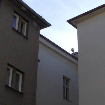 antenna on the roof of the Cadastral Office building in Frydek Mistek.