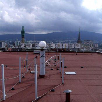 antenna on the roof of the Cadastral Office building in Liberec.