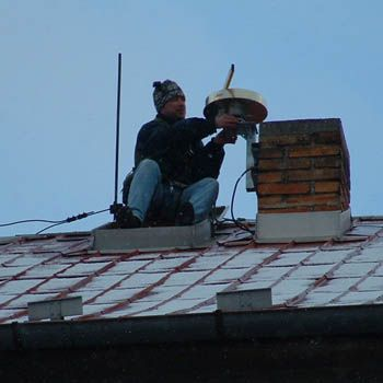 installation of the antenna.