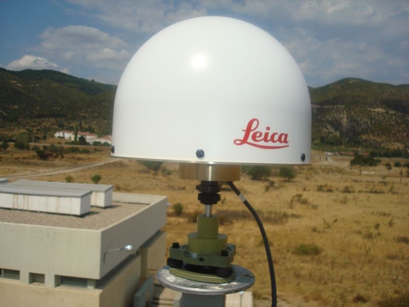 the antenna from South to North direction in closer view.