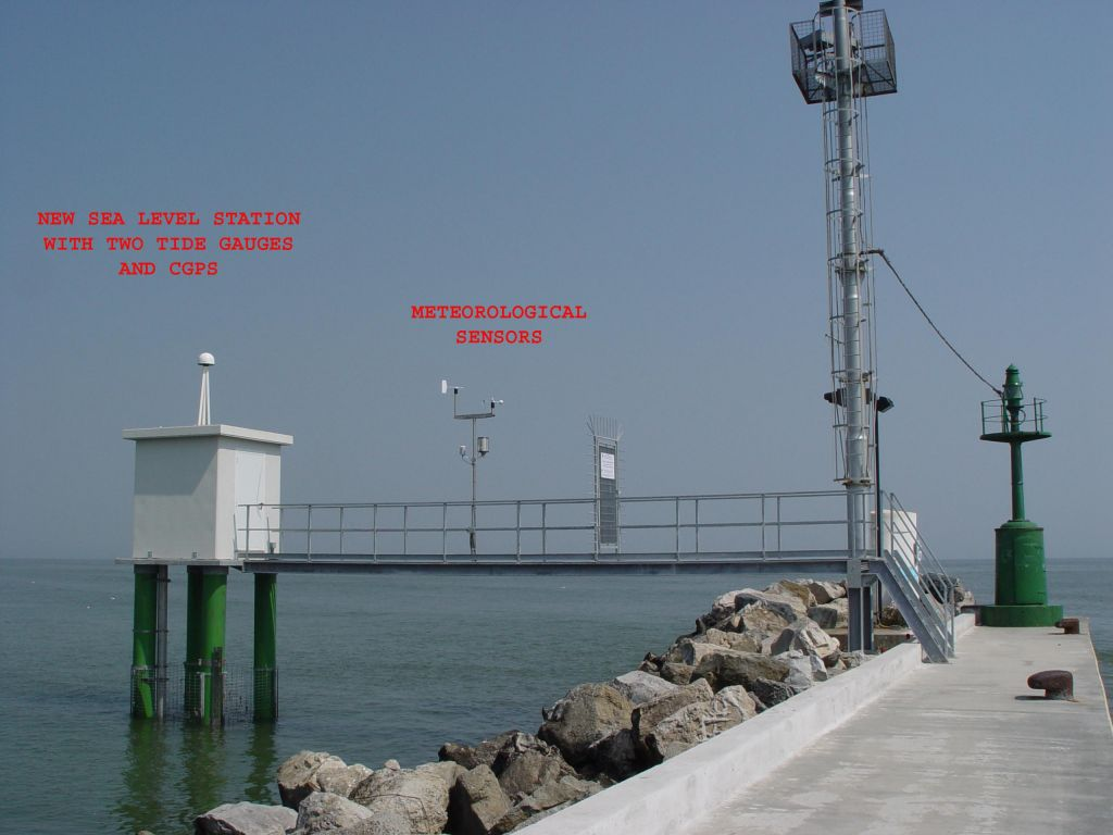 Panoramic view of New Sea level station, from side south-west.