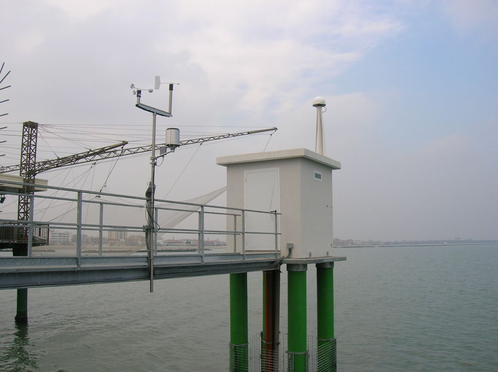 Panoramic view of New Sea level station, from side south-east.