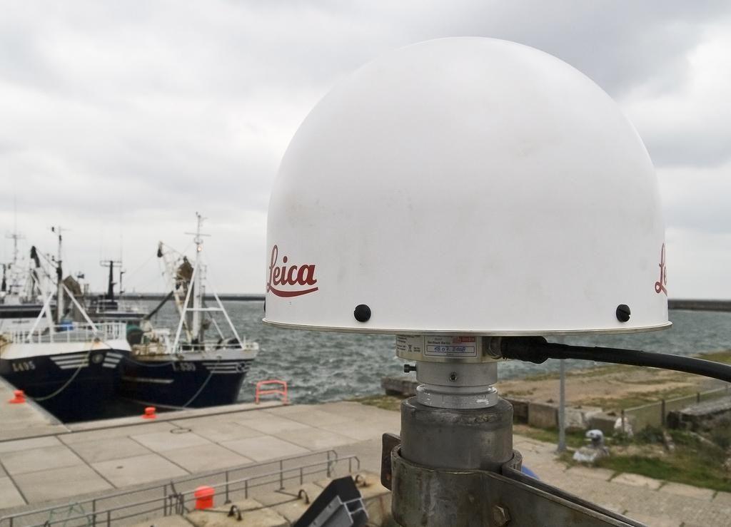 antenna on top of steel mast.