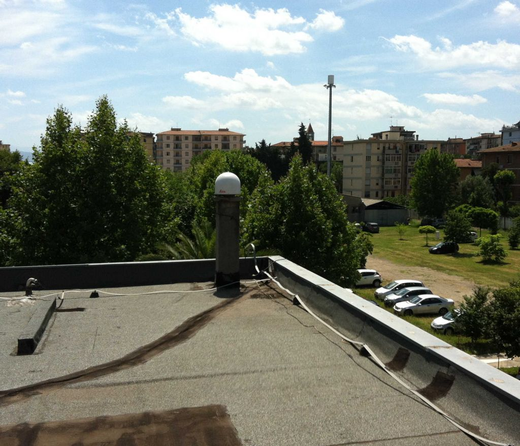 LEIAR25.R4 (LEIT) antenna sited on the roof