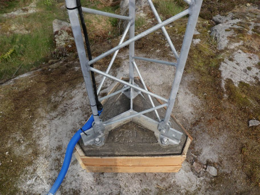 Antenna monument foundation.