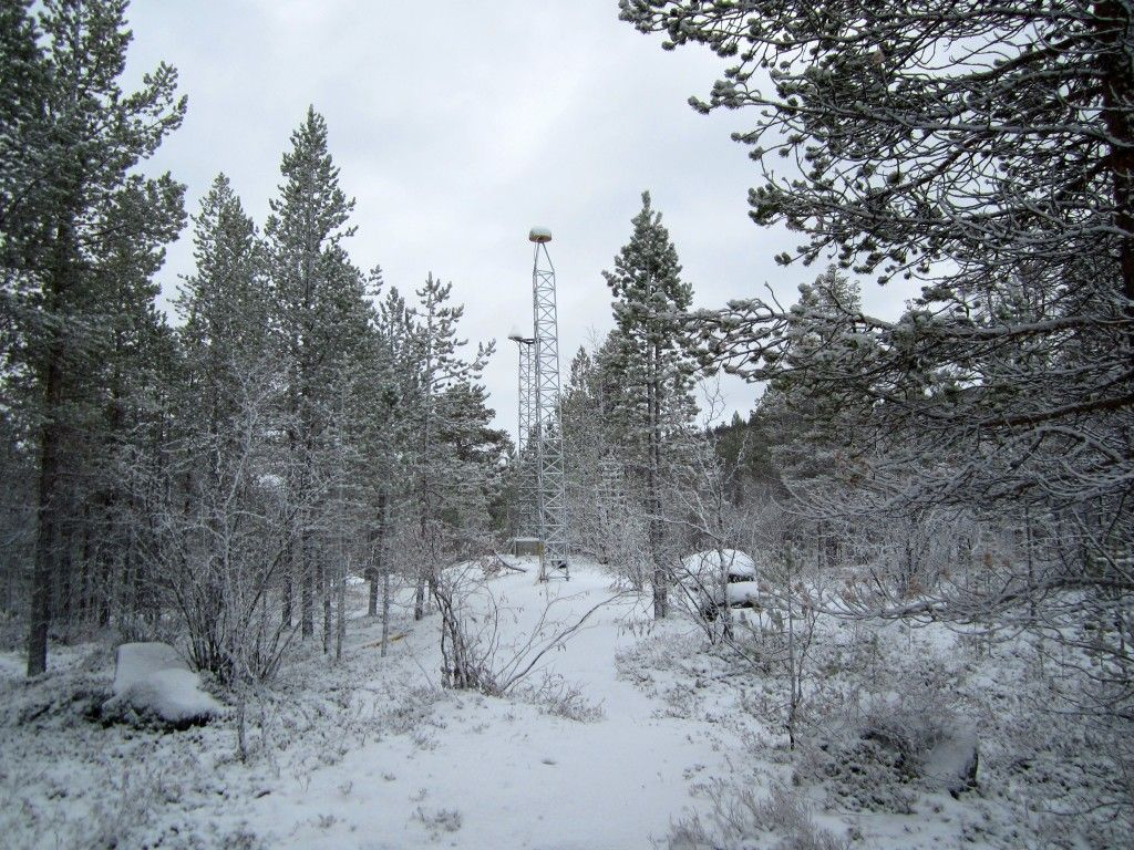 The KEV2 station in wintertime.