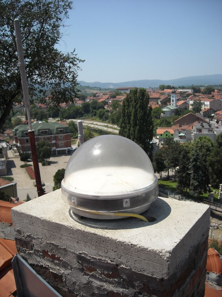 The snapshot of Zephyr antenna model TRM41249.00, which was installed on 2010-03-04 on the cadastre building Knjazevac with TRIMBLE DCA9520 cable