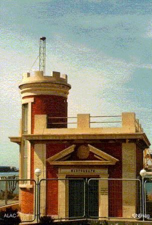 view of the tide gauge building with GPS antenna.