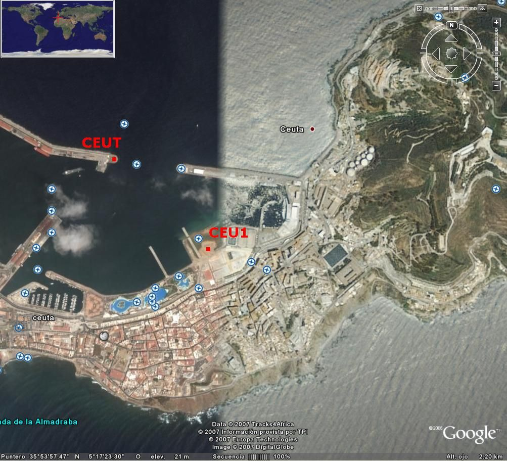 map position regarding the former station CEUT.