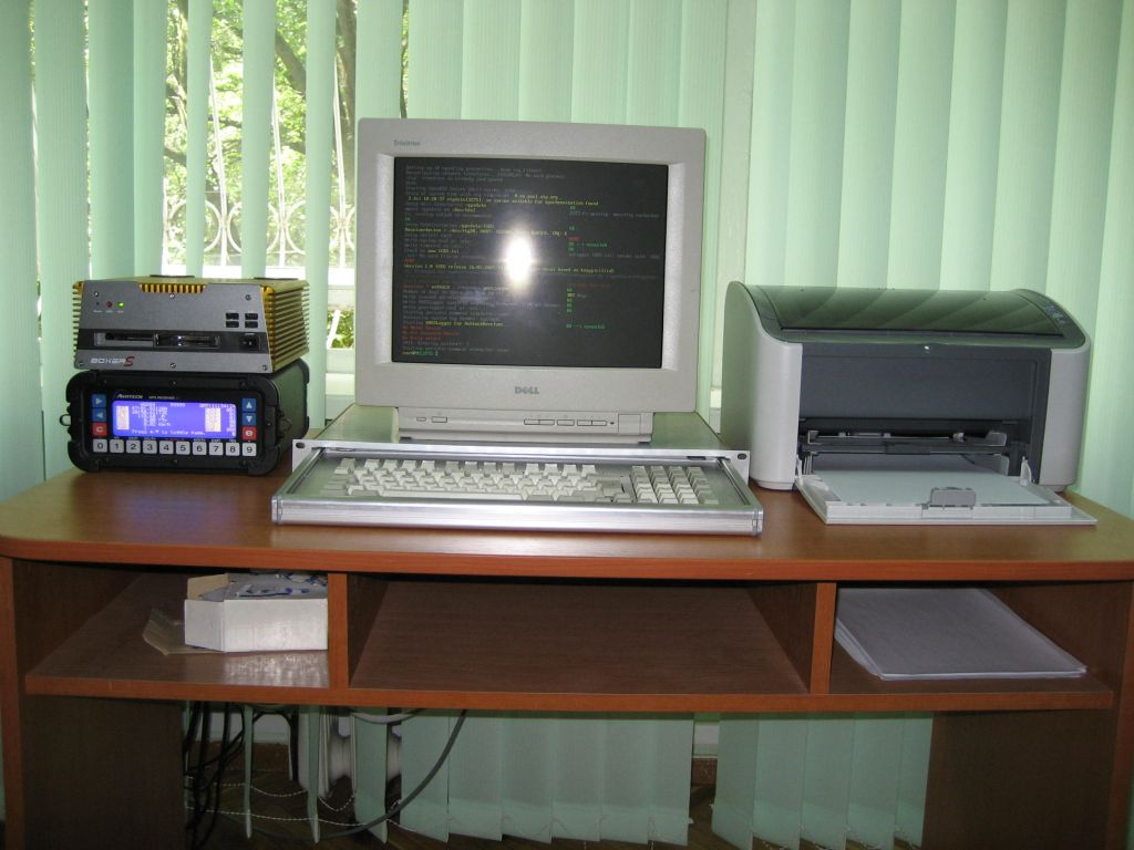 ASHTECH XII3 Receiver, Embedded Computer, Monitor, Keyboard, a.s.o.