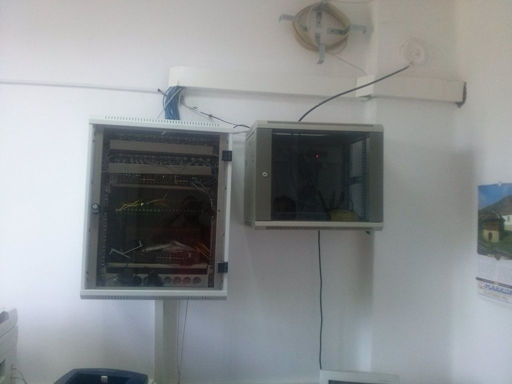 A closer view of cabinets where Trimble GNSS receiver is placed along with other reference station modules of KNJA station