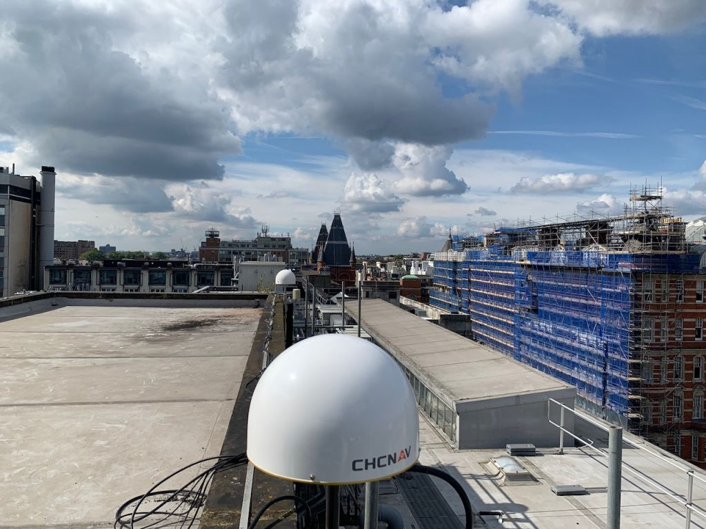 West view of LICC antenna at Imperial College London South Kensington