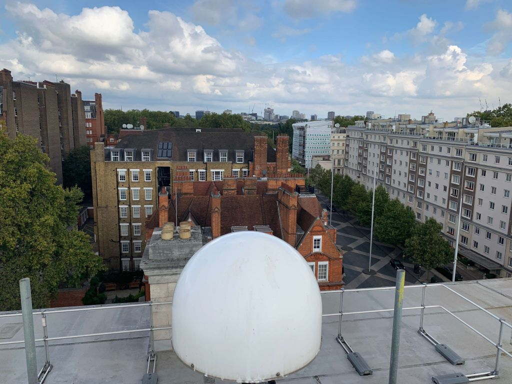 North view of LICC antenna at Imperial College London South Kensington