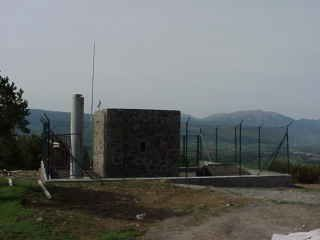 pilar, antenna and its surroundings view.