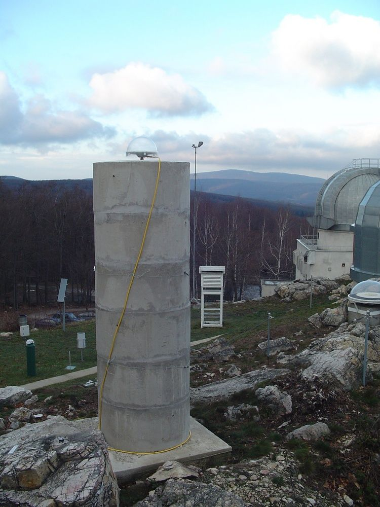 On the right side of the pillar is located meteo station with temperature, pressure and humidity sensors.