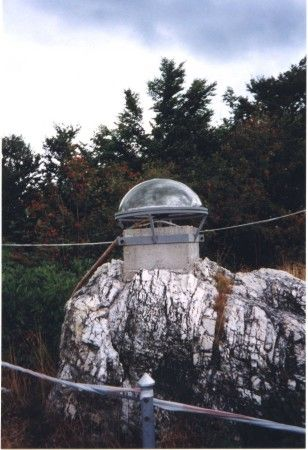 GPS antenna of Modra-Piesok (MOPI) station covered by plastic radome.