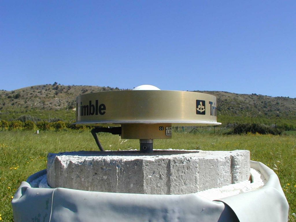 GPS antenna and pillar.
