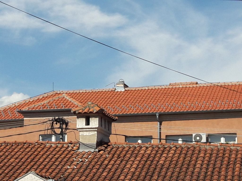 Street snapshot of cadastre building roof in Novi Pazar where new Zephyr 3 Geodetic GNSS antenna is located