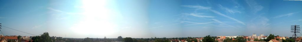 composite panorama (0-360 degree) picture as seen from the antenna.