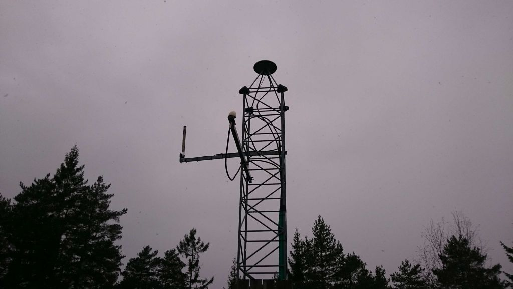 GNSS antenna and mast