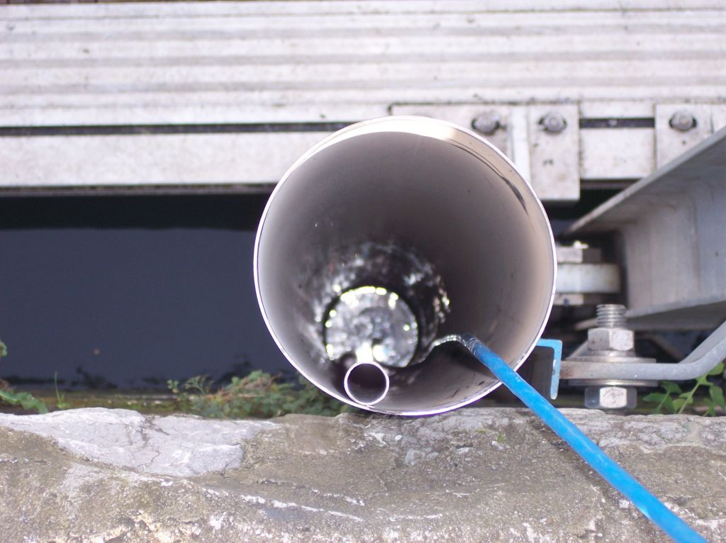 """Protection pipe"" for the tide gauge"