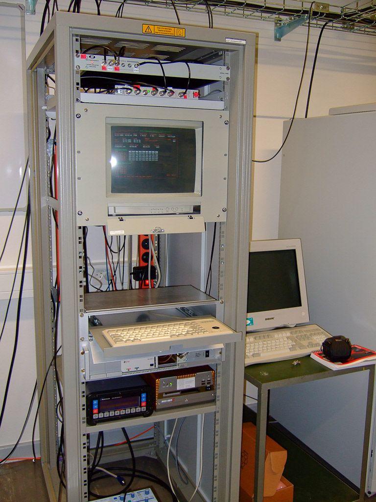 indoor rack in the central measurement room.