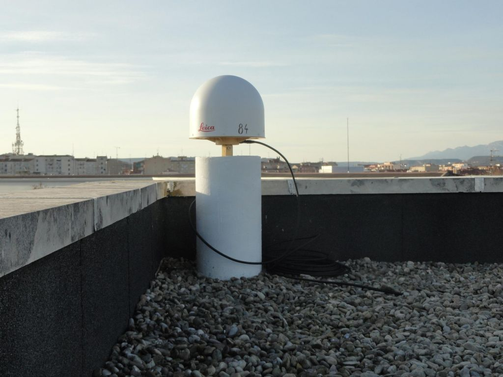 Antenna and view from the station to south-west