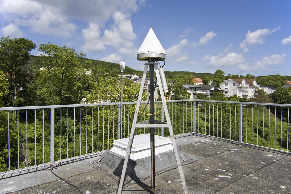 antenna and meteorological instrument (N direction).