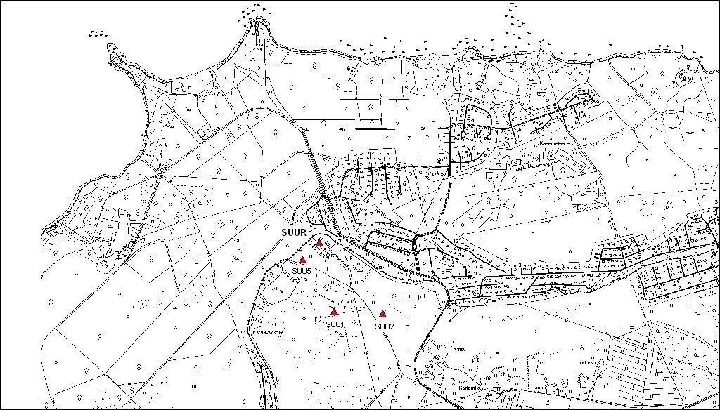 site map of surroundings of SUUR permanent station.