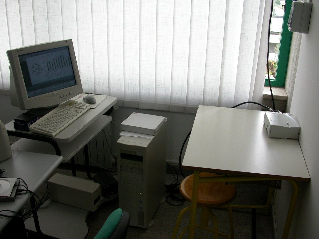 the receiver and the workstation for data archiving and pre-processing.