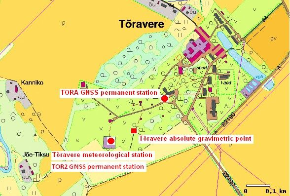 Site map of TOR2 GNSS permanent station