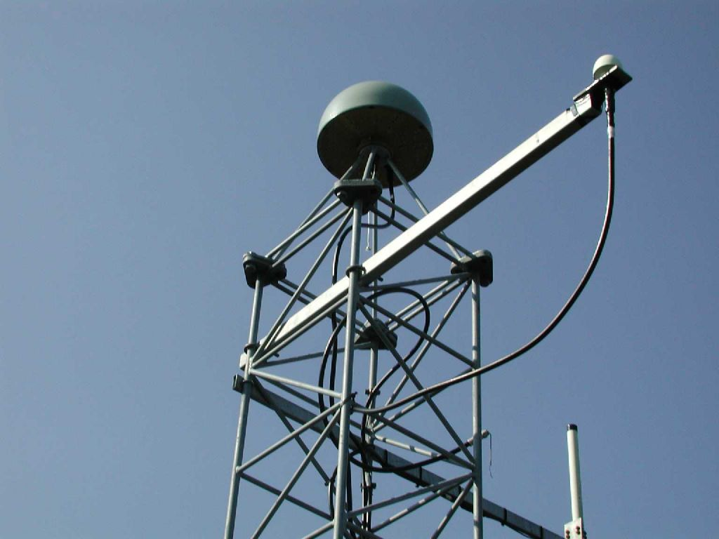antenna steel mast top.