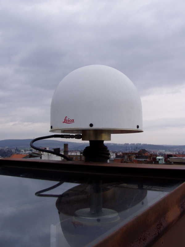 detail of Leica AT504 (Choke Ring) antenna with radome.