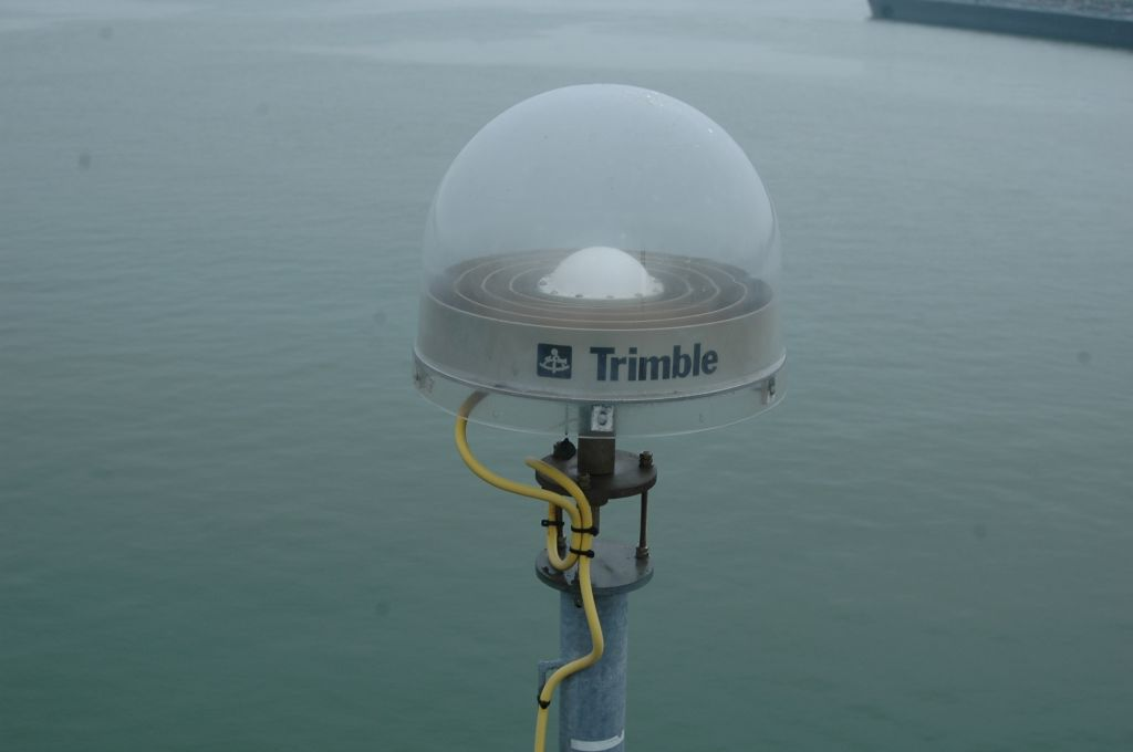 Trimble chokering antenna with UNAV radome, May 2012.