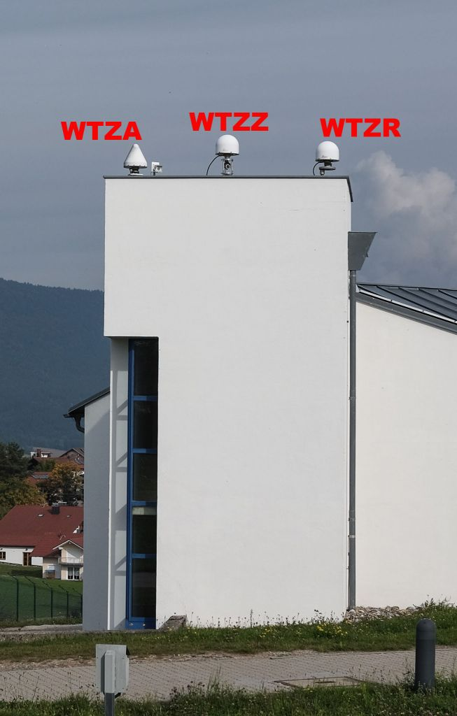 antenna mount WTZA, WTZZ and WTZR direction east